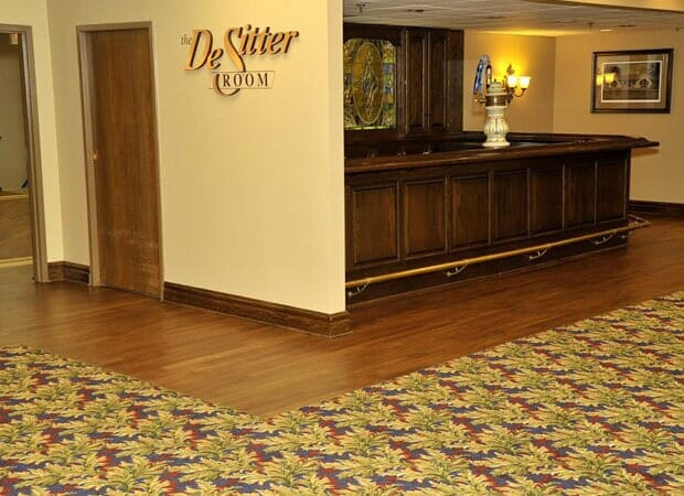 Commercial hardwood flooring installation in Wheaton IL by Desitter Flooring