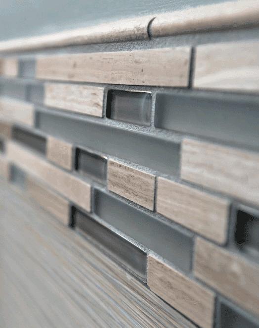 Kitchen backsplash installation in Western Springs IL by Desitter Flooring