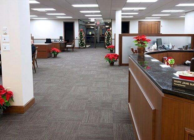 Commercial carpet tile in La Grange IL by Desitter Flooring