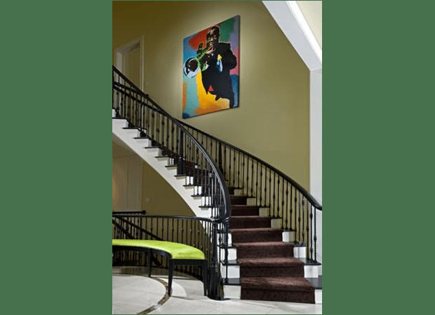 Custom stair runner installation in Clarendon Hills IL by Desitter Flooring
