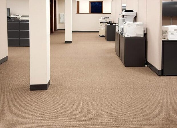 Commercial carpet installation in Hinsdale IL by Desitter Flooring