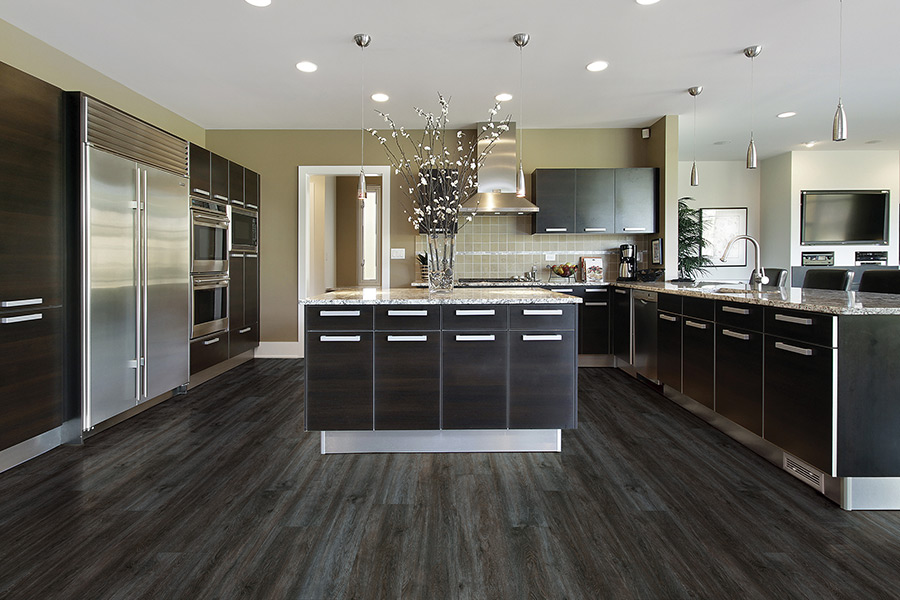 Waterproof luxury vinyl kitchen floors in Tarpon Springs FL from RCI Flooring