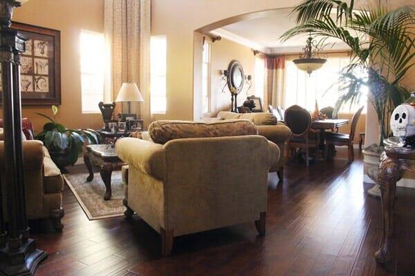 Living room makeover in La Jolla CA from Metro Flooring
