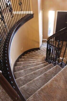 Wrought iron stair railing ideas in Santa Luz CA from Metro Flooring