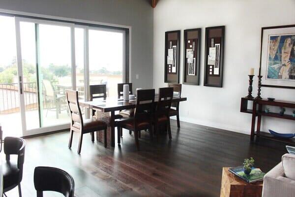 Gorgeous dark wood hardwood floors near Poway CA from Metro Flooring