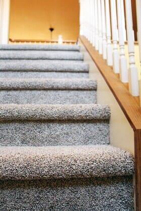 Carpeted stairs near La Jolla CA by Metro Flooring