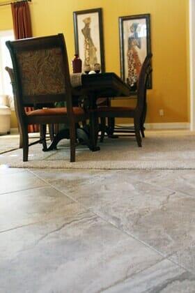 Traditional ceramic tile flooring installation near Carmel Valley CA by Metro Flooring