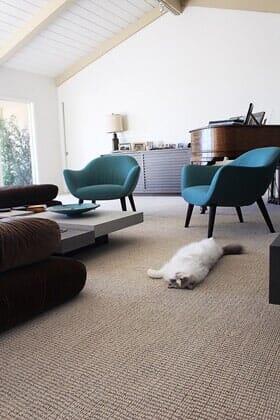 Pet friendly berber carpet installation near Scripps Ranch CA by Metro Flooring