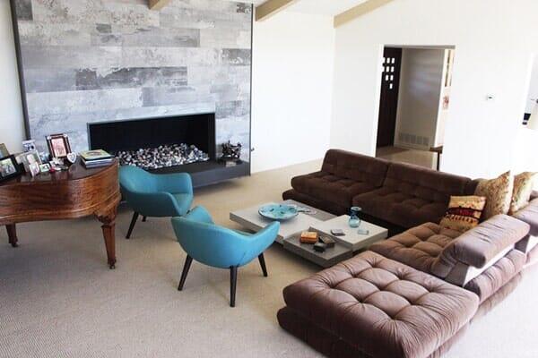 Mid century modern living room transformation near Carmel Valley CA by Metro Flooring