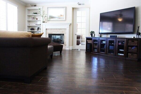Dark wood floor installation in San Diego CA by Metro Flooring