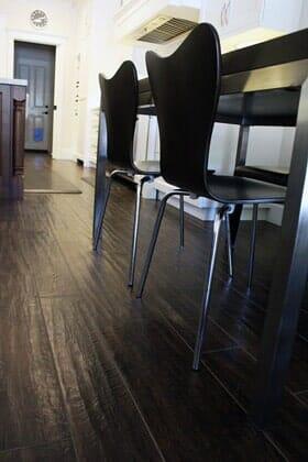 Dark rustic wood floors near Scripps Ranch CA by Metro Flooring