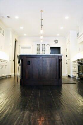 Kitchen wood floors near Carmel Valley CA by Metro Flooring