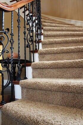 Carpeted stairs near Santa Luz CA by Metro Flooring