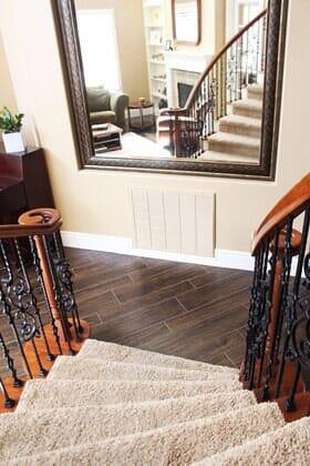 Stairway carpet installation in Poway CA by Metro Flooring