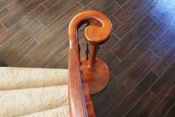 Custom stair remodel in San Diego CA by Metro Flooring