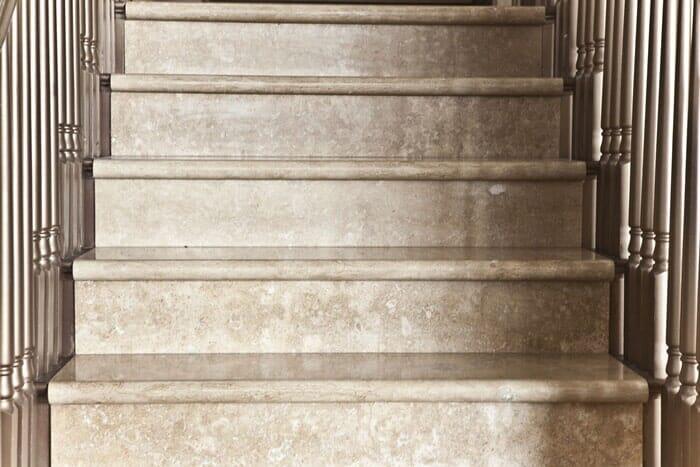 Marble stair installation in San Diego CA by Metro Flooring