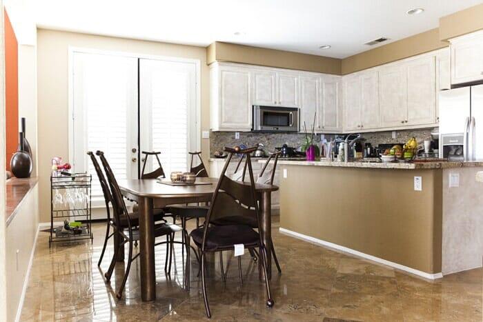 Luxury marble kitchen flooring near La Jolla CA by Metro Flooring