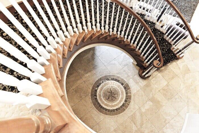 Circular stairway installation near San Diego CA by Metro Flooring