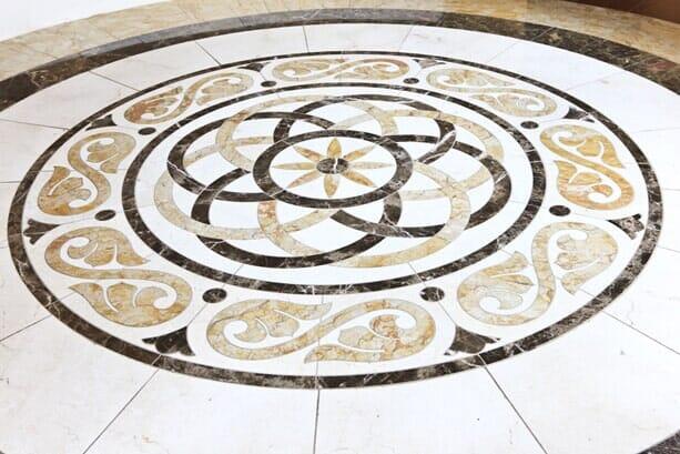 Custom tile mosaic installation near Scripps Ranch CA by Metro Flooring