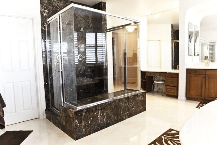 Custom shower surround near San Diego CA by Metro Flooring