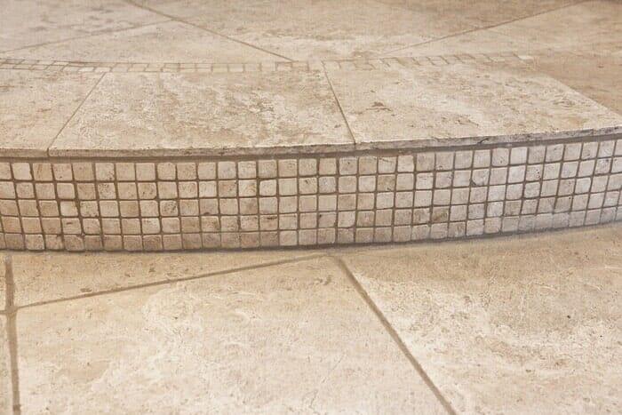 Custom tile stair work near San Diego CA by Metro Flooring