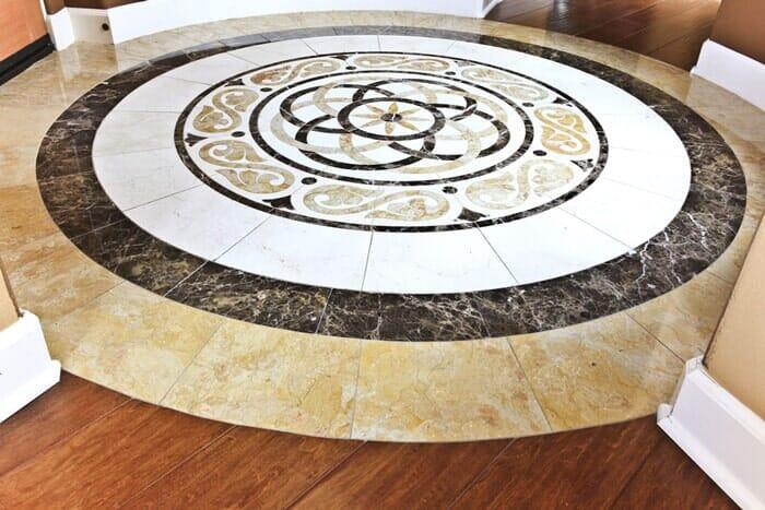 Custom tile mosaic in wood near San Diego CA by Metro Flooring