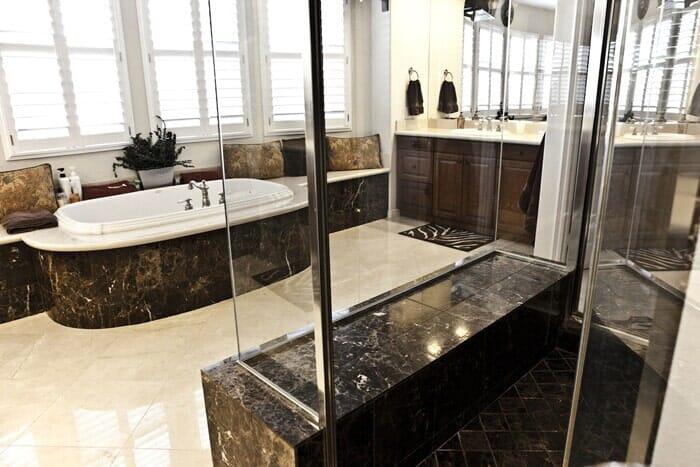 Custom luxury bathroom makeover near San Diego CA by Metro Flooring