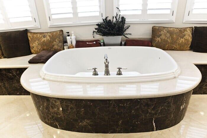 Custom soaking tub installation near San Diego CA by Metro Flooring