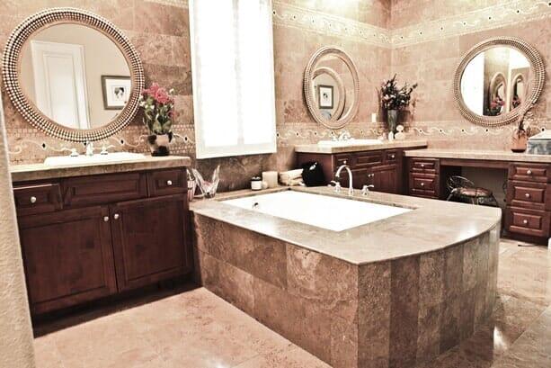 Custom luxury bathroom remodel near Carmel Valley CA by Metro Flooring