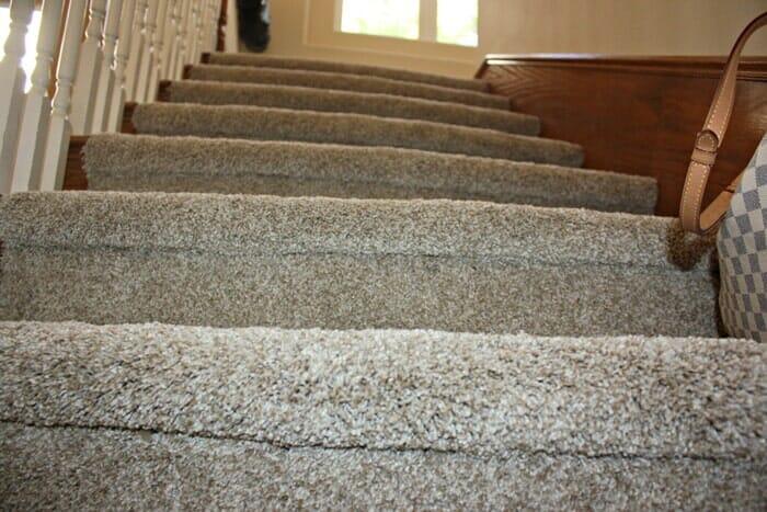 Stairwell carpet installation near San Diego CA
