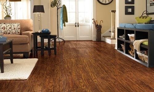 Hand scraped laminate flooring in Carlsbad CA from Action Carpet & Floor Decor