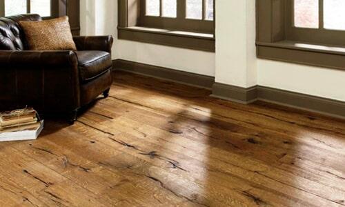 Distressed laminate flooring in Carlsbad CA from Action Carpet & Floor Decor