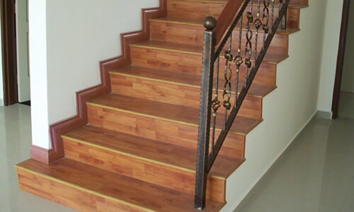 Laminate flooring for stairs in Oceanside CA from Action Carpet & Floor Decor