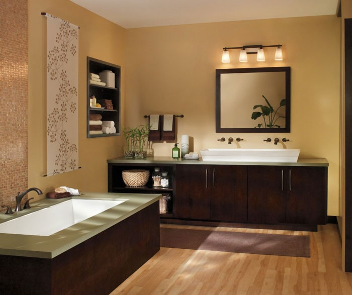 Bathroom remodel in Fountain Beach CA by Sharon and Sons Flooring & Cabinets