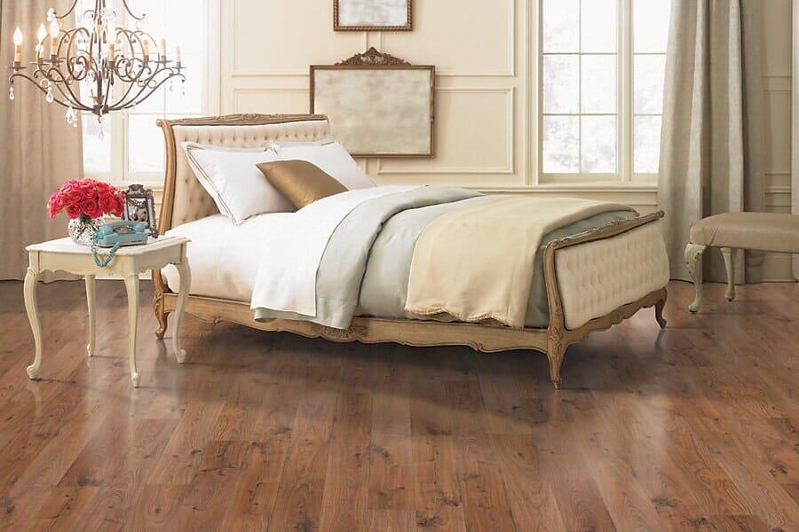 Laminate floors for bedroom near Apex, NC at Bruce's Carpet
