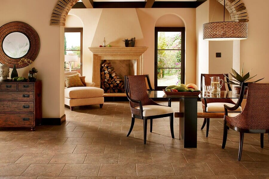 Luxury Vinyl flooring tiles near Apex, NC at Bruce's Carpet