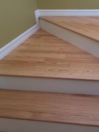 Custom stair installation in Rocky Point FL by Floor Specialists of Martin County