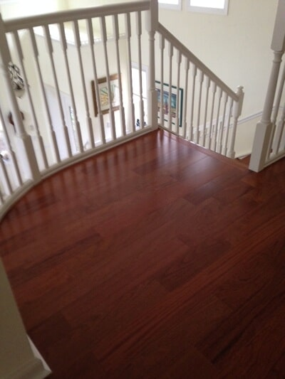 Custom hardwood stair installation in Palm City FL by Floor Specialists of Martin County