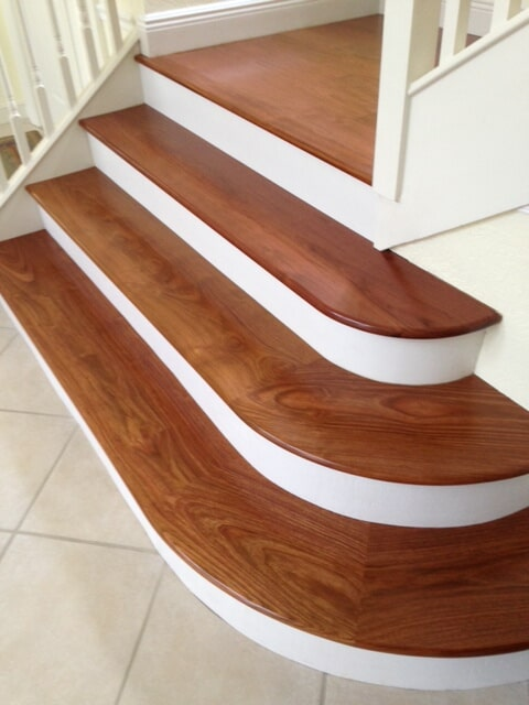 Custom wood stair installation in Port Salerno FL by Floor Specialists of Martin County