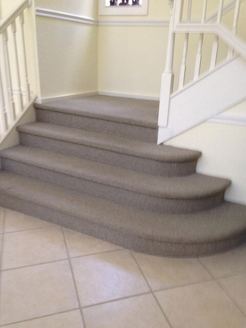 Custom stair installation in Stuart FL by Floor Specialists of Martin County