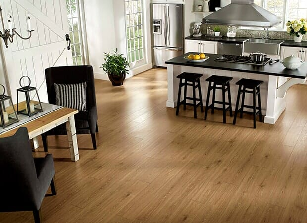 Kitchen wood floors in Eastover NC from Carolina Carpet and Floors