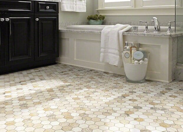 Bathroom tile in Fayetteville NC from Carolina Carpet and Floors