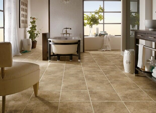 Modern bathroom tile in Eastover NC from Carolina Carpet and Floors