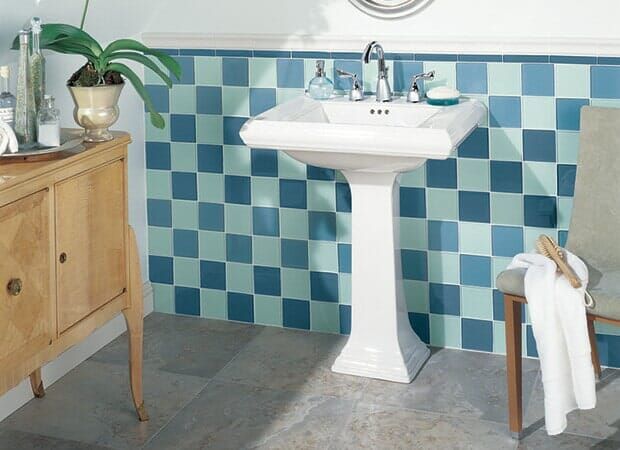 Classic bathroom tile in Eastover NC from Carolina Carpet and Floors
