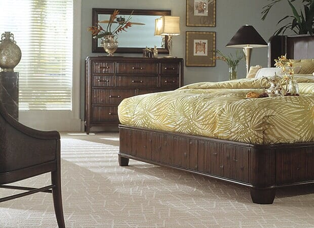 Textured bedroom carpet in Hope Mills NC from Carolina Carpet and Floors