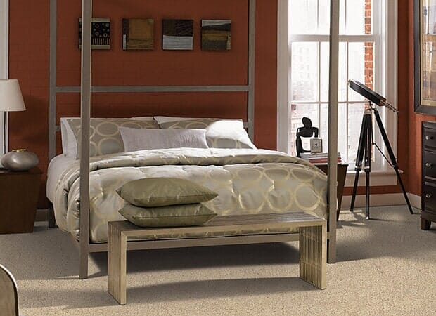 Modern bedroom in Hope Mills NC from Carolina Carpet and Floors