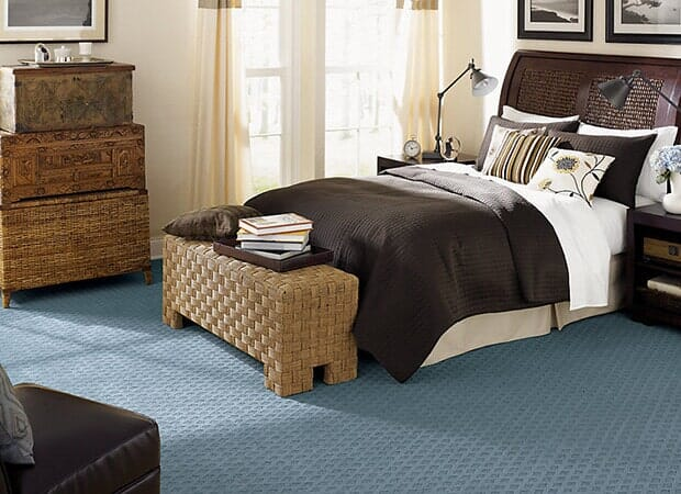 Modern bedroom carpet in Eastover NC from Carolina Carpet and Floors