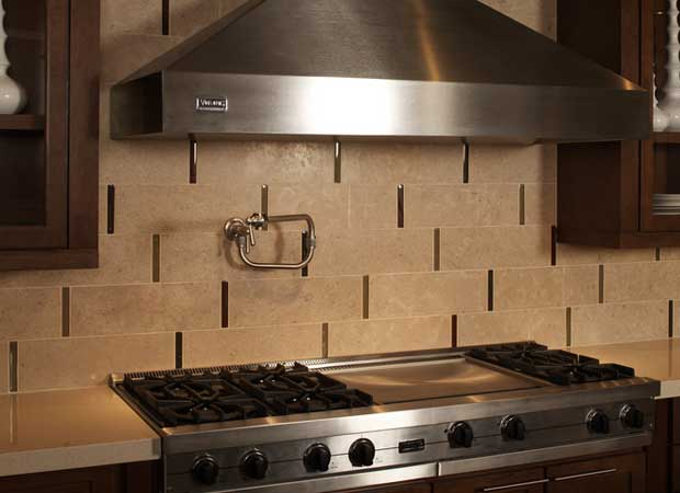 Modern kitchen backsplash in Cape Fear NC from Carolina Carpet and Floors