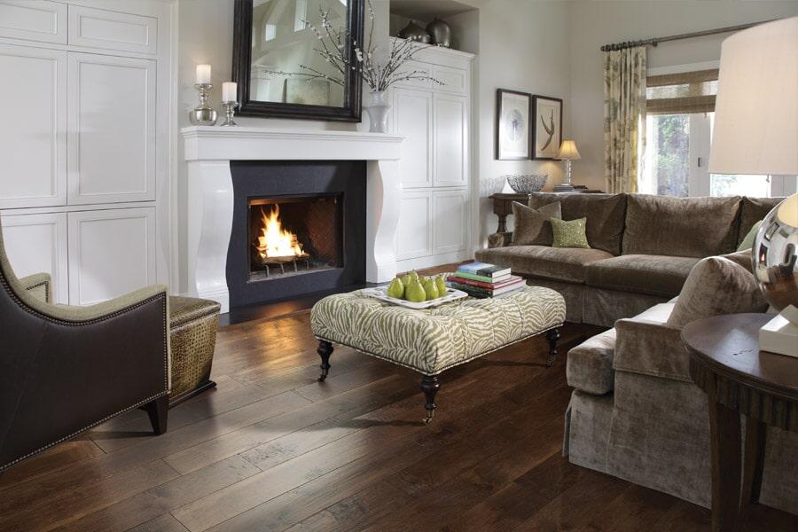 Living Room Floors installed by Eastern CT Flooring