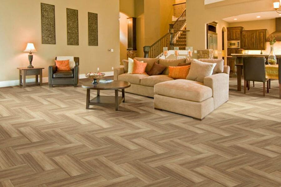 Luxury Vinyl Flooring for living room near Bourbonnais, IL